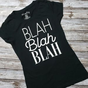 Tops - Black Graphic Text T Sz. S Funny Quotes